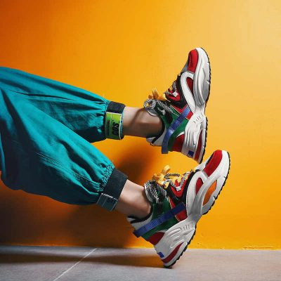 Unisex Double Lacing Running Shoes 2019